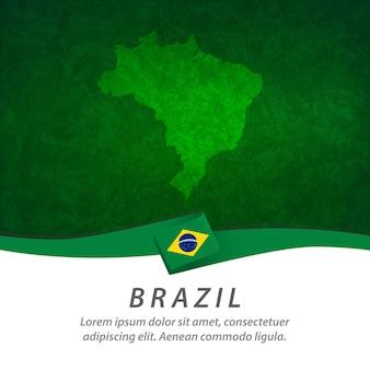 Флаг бразилии с центральной картой