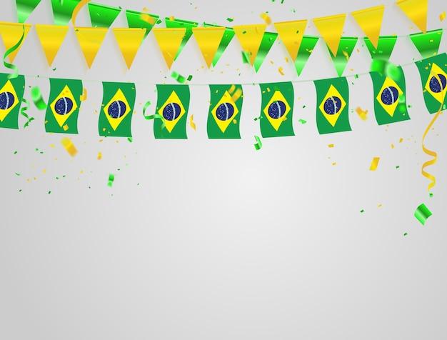Brazil flags celebration background