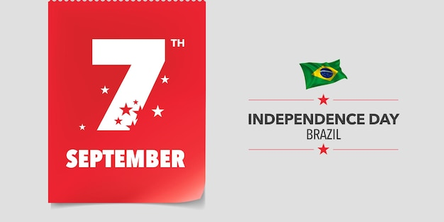 Brazil happy independence day  . brazilian national day 7th of september background with elements of flag in a creative horizontal design