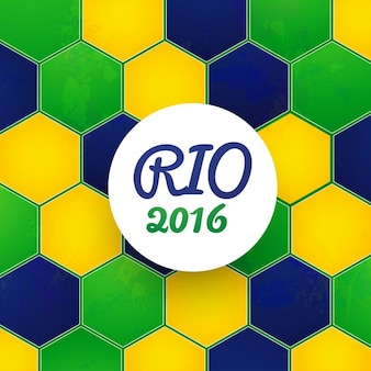 Бразилия цвет фона шестиугольник