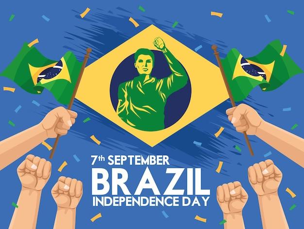 Карта независимости бразилии