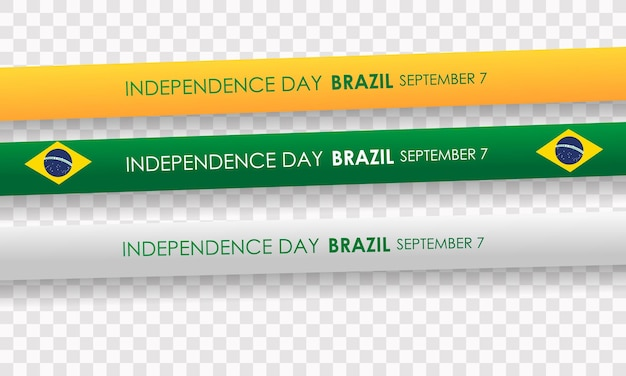 Brazil independence day 7 september realistic vector with balloons and brazil flag
