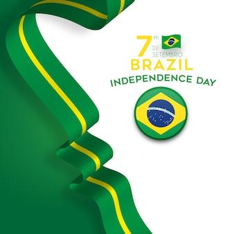 День независимости бразилии с лентой флага