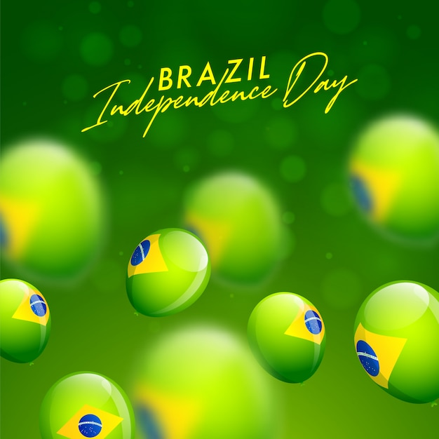 Brazil independence day celebration card