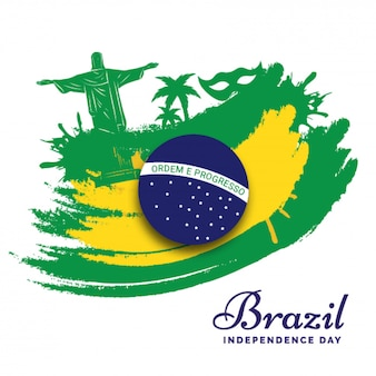 Brazil independence day poster or banner design.
