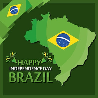 Плакат ко дню независимости бразилии