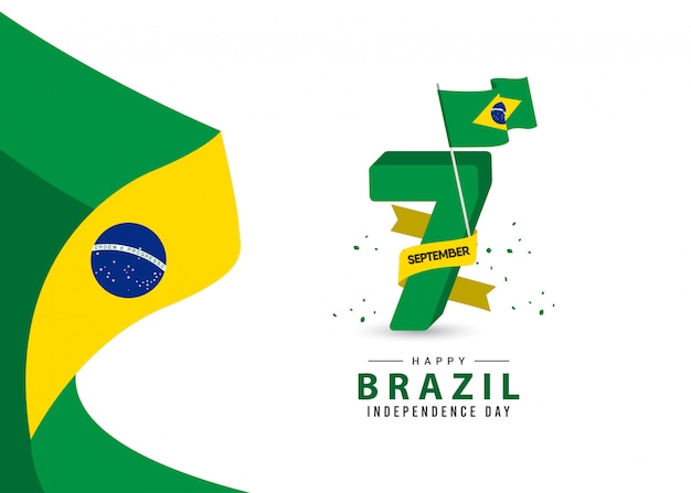 Brazil independence day template.