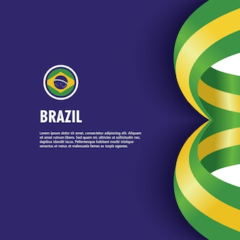 Brazil independence day vector template design illustration