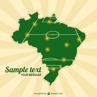ブラジルマップサッカーフィールドテンプレート