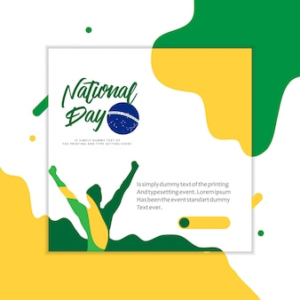 Brazil national day illustration