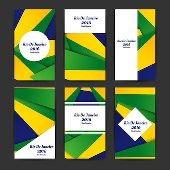 Бразилия цвета бизнес-шаблоны