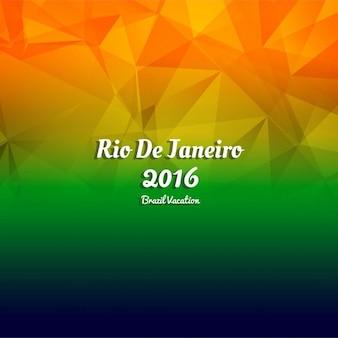 브라질 올림픽 게임 다각형 배경
