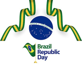 Brazil republic day vector template design illustration