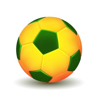 白い背景で隔離のブラジルのサッカーボール。ベクトルイラスト