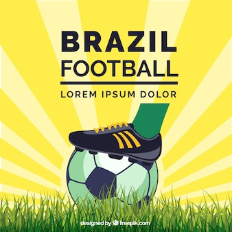 Brazil soccer ball with sunburst