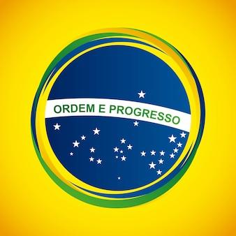 Brazil stamp design