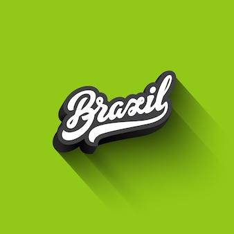 Testo brasile calligrafia vintage retro lettering design.