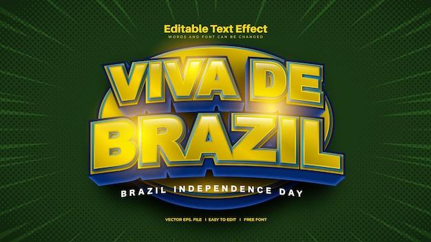 Текстовый эффект бразилии - день независимости бразилии