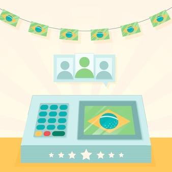 ブラジルの投票選挙のイラスト
