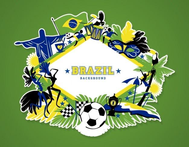 Brazil wallpaper illustration