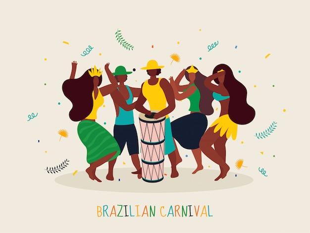 Brazilian carnival background.