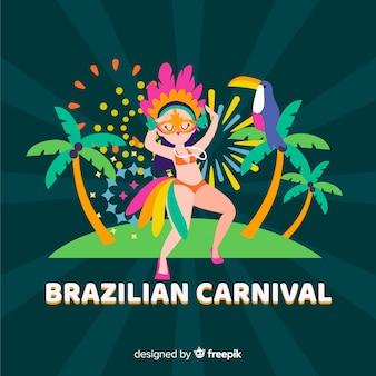 Бразильский карнавал фон