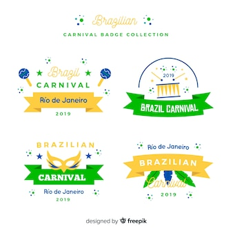 Brazilian carnival badge collection