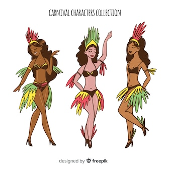 ブラジルのカーニバルキャラクターコレクション