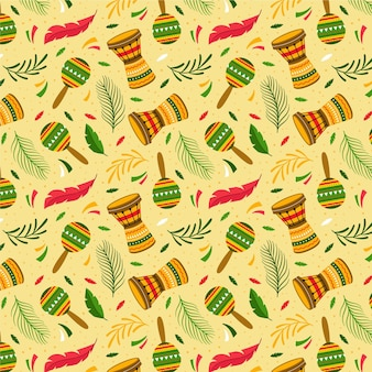 Design piatto modello colorato carnevale brasiliano