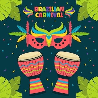 Concetto di carnevale brasiliano in design piatto