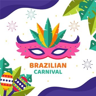 Brazilian carnival concept in flat design