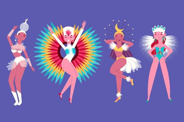 Brazilian carnival dancer collection theme for illustration