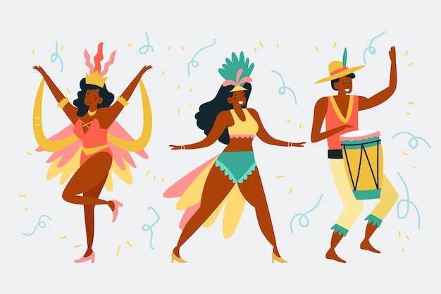 Brazilian carnival dancer collection