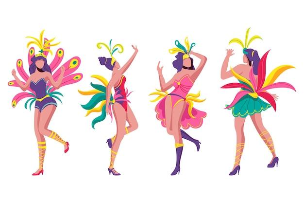 ブラジルのカーニバルダンサーコレクション
