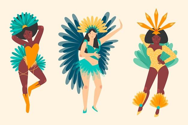브라질 카니발 댄서 컬렉션