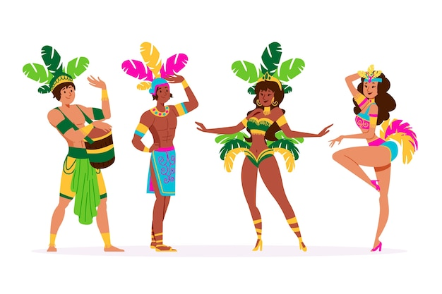 Brazilian carnival dancer collection