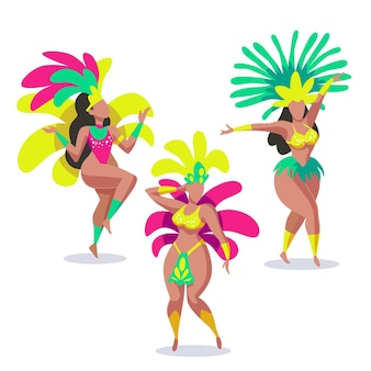 Brazilian carnival dancer pack