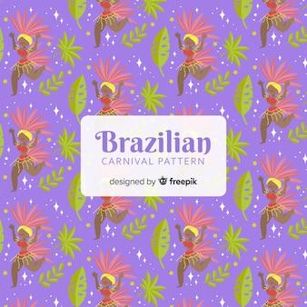 Brazilian carnival dancer pattern