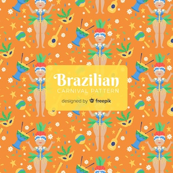 Brazilian carnival dancer pattern