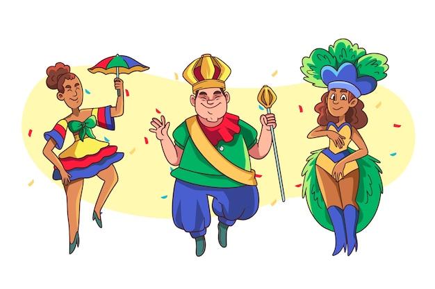 Brazilian carnival dancer set