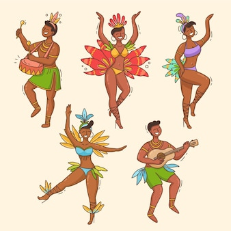Набор танцоров бразильского карнавала