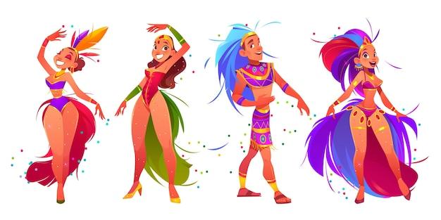 브라질 카니발 댄서 세트