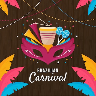 Brazilian carnival day celebration