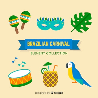 Brazilian carnival element collection