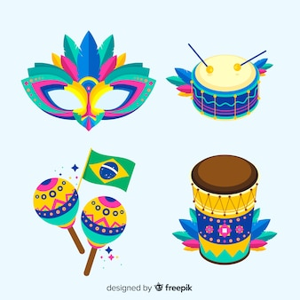 Бразильская коллекция элементов карнавала