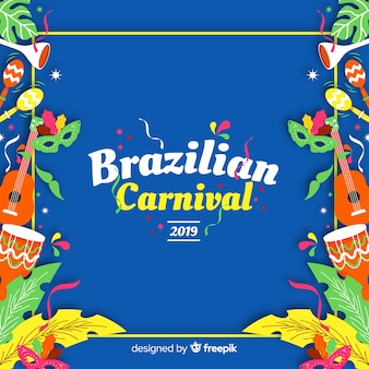 Brazilian carnival elements background