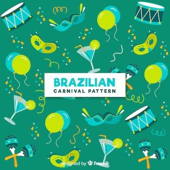 Brazilian carnival elements background