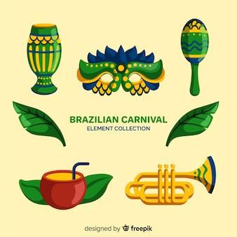 Elementi di carnevale brasiliano