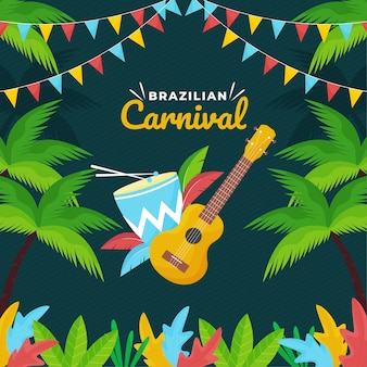 Brazilian carnival festive theme