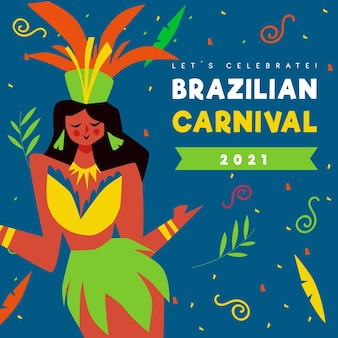 Brazilian carnival hand drawn